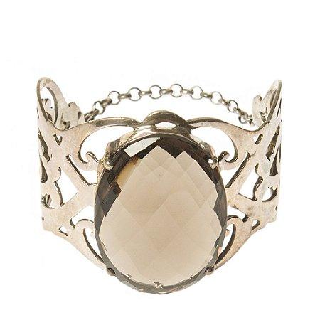 SM   Bracelete SM Metal e Cristal Chumbo