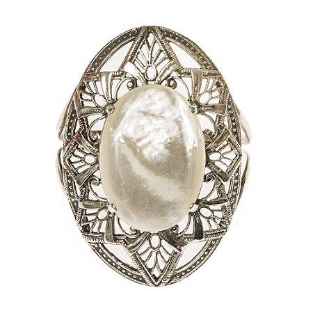 SM | Bracelete Metal Pedra Perolada