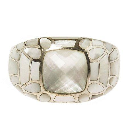 SM   Bracelete Sem Marca Metal Prata e Perolado