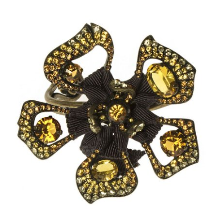 LANVIN | Bracelete Lanvin Metal Flor Amarelo