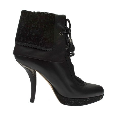 CHRISTIAN DIOR | Ankle Boot Christian Dior Couro Preto