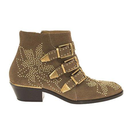 CHLOÉ | Ankle Boot Chloé Chamoix Caramelo