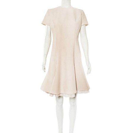 CHRISTIAN DIOR   Vestido Christian Dior Lã Rosé