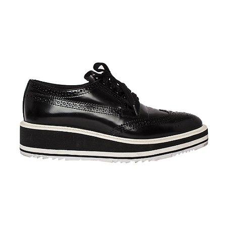 PRADA | Sapato Prada Couro Preto