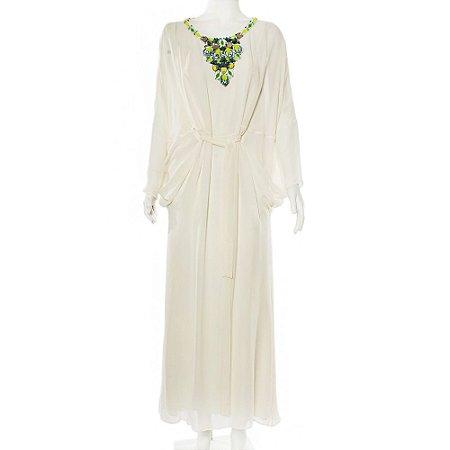 ISSA | Vestido Issa Seda Creme