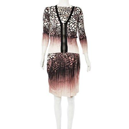 KAREN MILLEN | Vestido Karen Millen Algodão Estampado Rosa