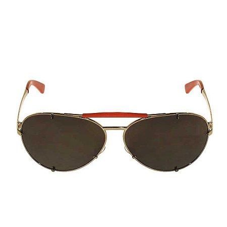 VALENTINO | Óculos Valentino Metal Vermelho Prateado
