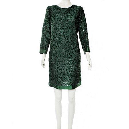 NINA RICCI | Vestido Nina Ricci Seda Verde