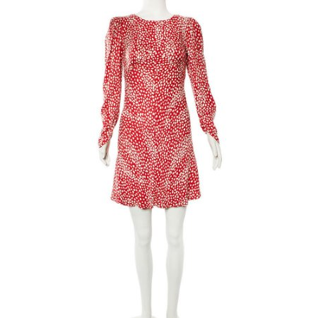 MAJE | Vestido Maje Viscose Vermelho e Branco