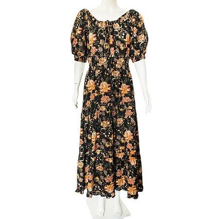 CRUISE | Vestido Cruise Algodao Marinho Floral