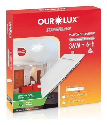 PAINEL LED EMBUTIR  40 X 40 36W 6500K
