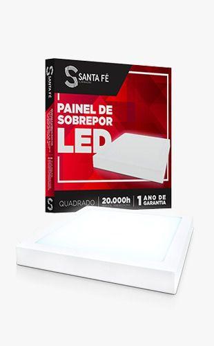 PAINEL LED SOBREPOR 12W QUADRADO 6000K