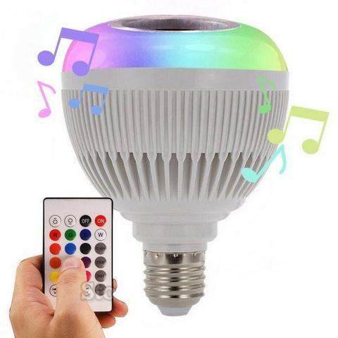 LAMPADA LED BULBO MUSICA 12W BLUETOOTH