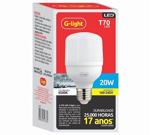 LAMPADA LED BULBO 20W 6500K G-LIGHT