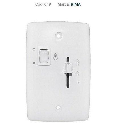 Controle Ventilador Deslizante + Lâmpada