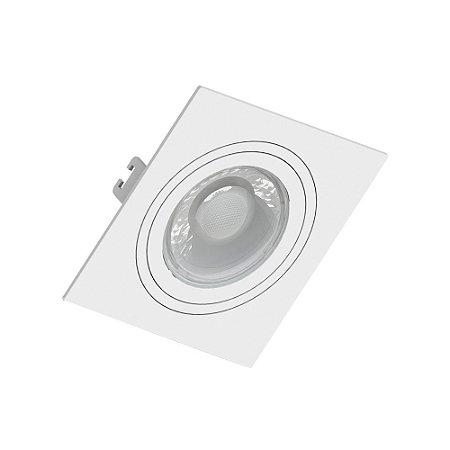 Spot Plana PAR20 Quadrado Branco
