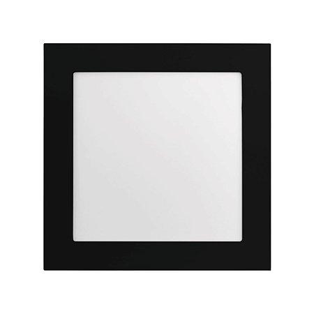 PAINEL LED EMBUTIR 20W QUADRADO PRETO 6500K