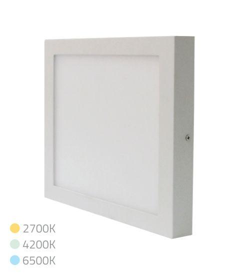 PAINEL LED SOBREPOR 24W QUADRADO 4200K