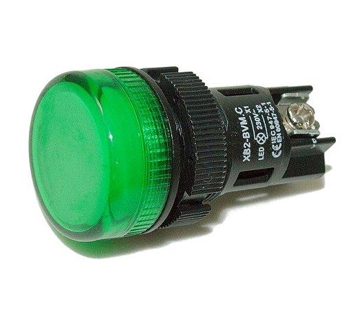 BOTAO SINALEIRO LED 220V VERDE