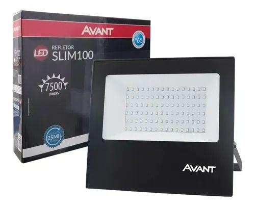 REFLETOR LED 100W SLIM 6500K