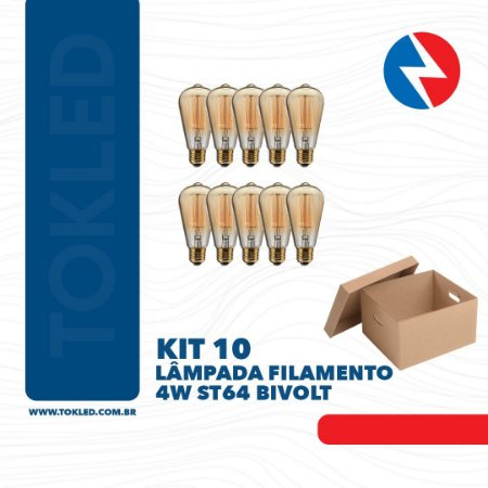 LAMPADA FILAMENTO 4W ST64 BIVOLT