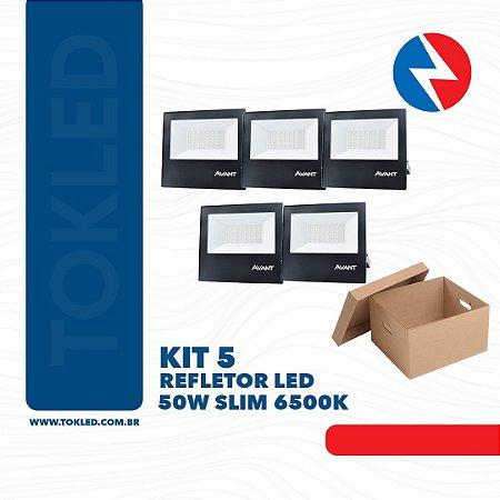 Kit 5 Refletores Led 50W SMD 6500K