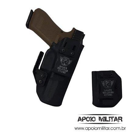 Coldre Kydex Glock + Porta Carregador G22  Geração 5