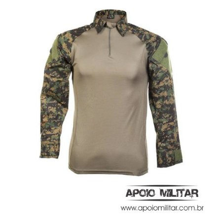Camisa Combat Shirt Raglan Fox Boy Marpat