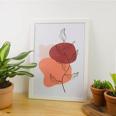 Quadro Decorativo Pintura Orgânica Folhas