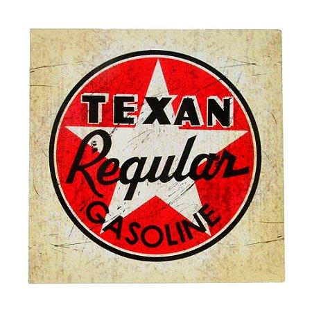 Placa de Metal Decorativa Texan