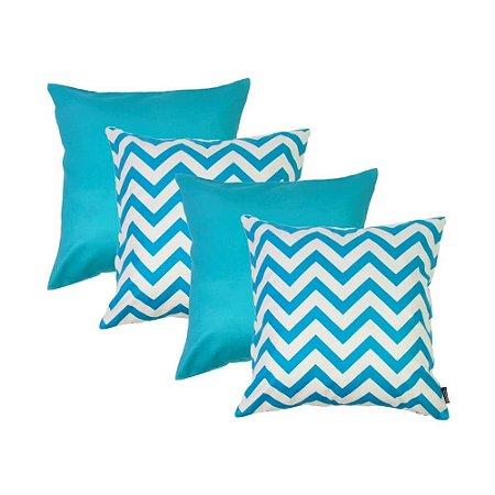 Capas de Almofadas Azul Turquesa