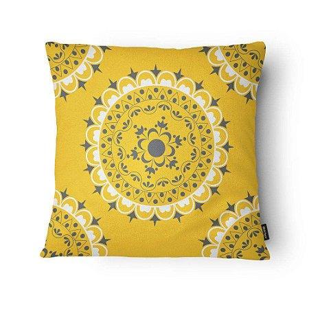 Almofada Floral Amarela