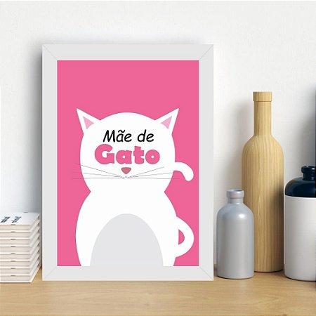 Quadro Decorativo Mãe de Gato