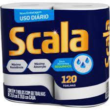 Papel Toalha Scala Neutro C/2 Rolos
