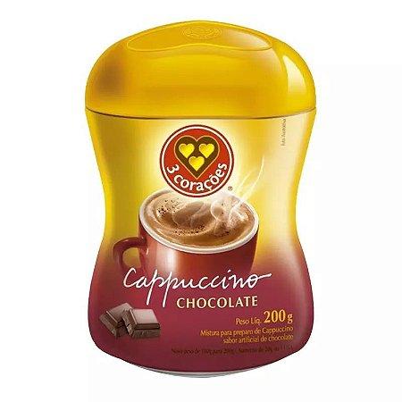 Cappuccino 3 Corações Chocolate 200g