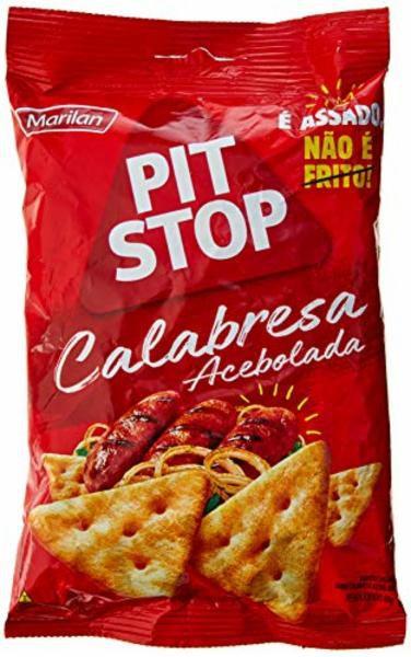 Biscoito Snack Pit Stop Calabresa Acebolada 80g