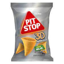 Salgadinho Pit Stop Cones 3D Parmesão 40G
