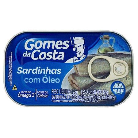 Sardinha com Óleo Gomes da Costa Lata 125g