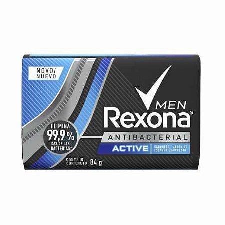 Sabonete Rexona Men Active Antibacterial 84g