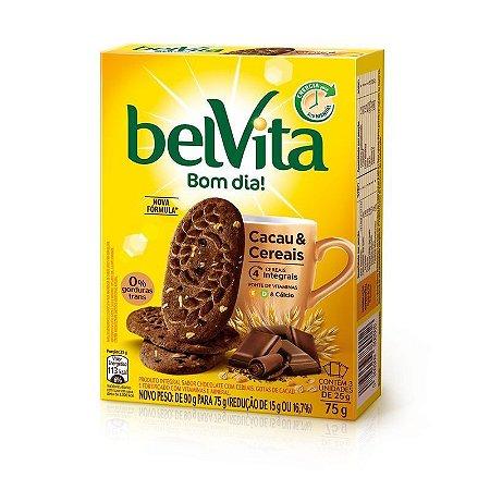 Biscoito BelVita Bom dia! Cacau e Cereais 75g