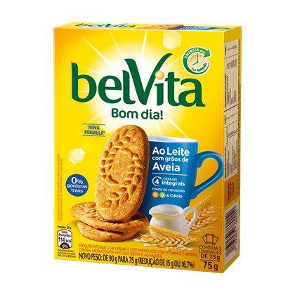 Biscoito BelVita Bom Dia! ao Leite com Grãos de Aveia 75g