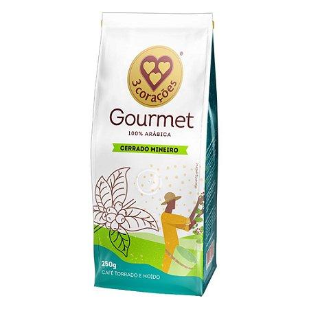 Café Gourmet 3 Corações 100% Arábica Cerrado Mineiro 250g