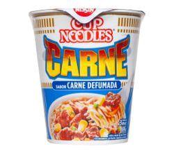 Cup Noodles Nissin Sabor Carne Defumada 69g