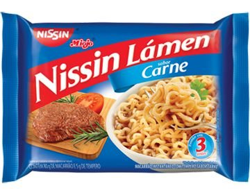 Miojo Nissin Lámen Sabor Carne 80g