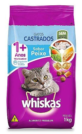 Ração Gato Adulto Cadastro de 1+ Anos sabor Peixe Whiskas 1Kg