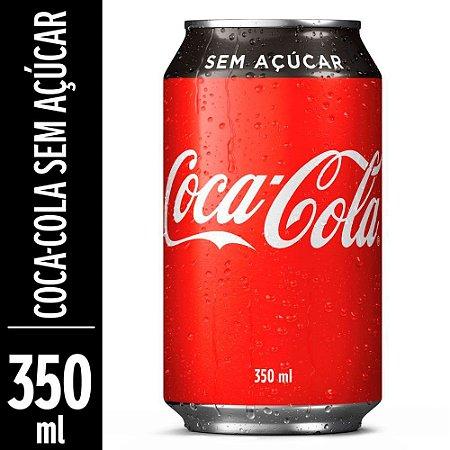 Refrigerante Coca-Cola Sem Açúcar 350ml lata