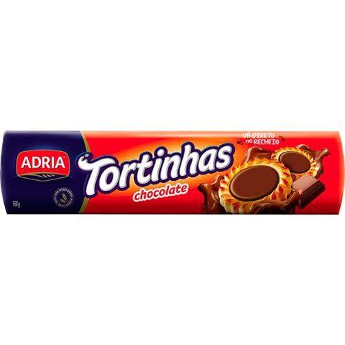 Biscoito Recheado Tortinhas Chocolate  Adria 160g