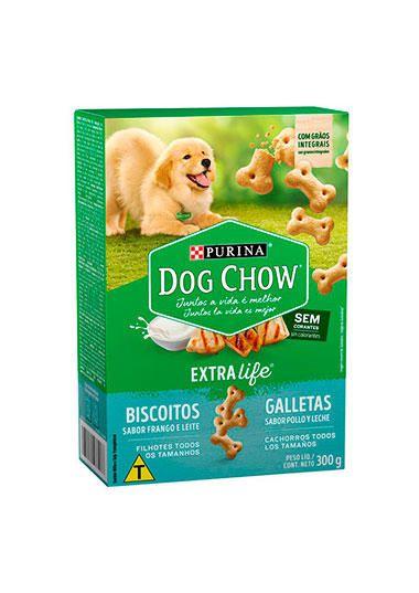 Biscoito Frango e Leite  Dog Chow Purina - 300g