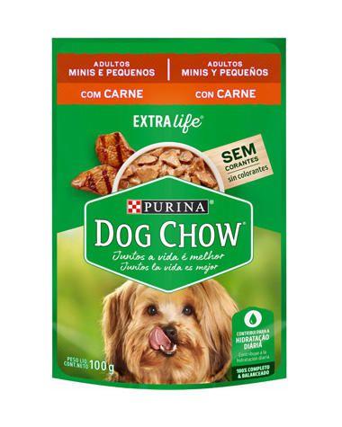 Sachê Sabor Carne ao Molho Dog Chow Purina 100g Raças Pequenas