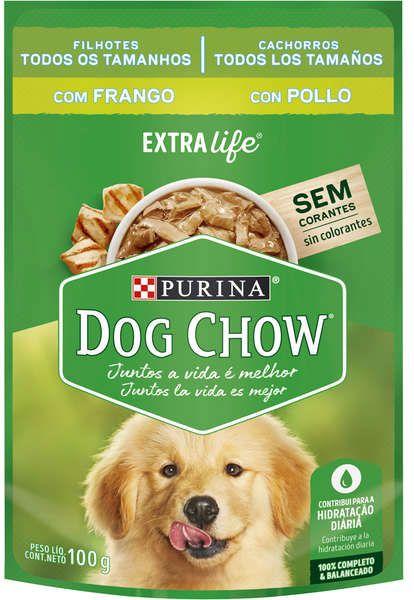 Sachê Sabor Frango ao Molho Dog Chow Purina 100g Filhote
